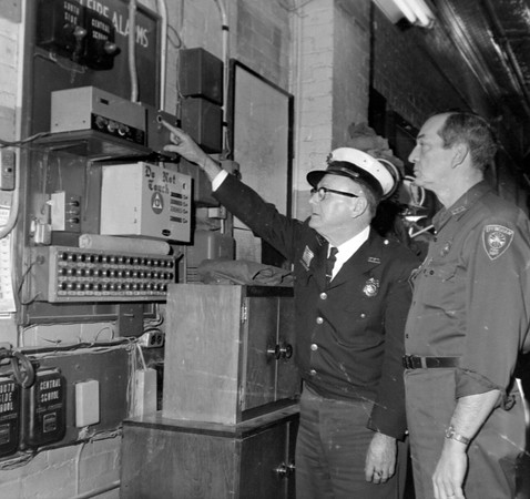 New stop light at fire department 1973
