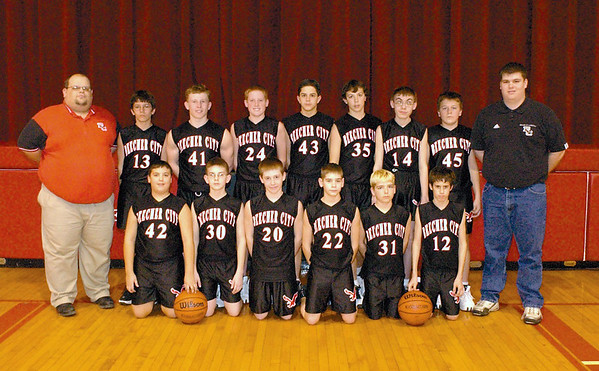 In this 2003 photo, front row, from left, are Mitch White, Adam Evans, Cody Doty, Tyler McKay, Ramsay Stepp and Alex Hall. back: Coach Bill Hammer, Clay Evans, John Newsome, Jared Laue, Matthew Harder, Zack Daugherty, Quintin Lowe, Daniel Baker and Coach Joe Kemme.