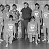 Coach Jack Klosterman, center, is shown with EHS cross country team in 1971