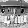 Effingham Garden Club at the train depot in 1971