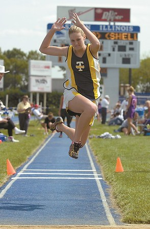 Teutopolis High School Donna Pruemer competes in the triple jump in this 2003 photo.