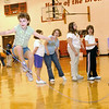 Holly Rinehart concentrates as she jumps rope at Central Grade School in this 2003 photo as the students raise money for the American Heart Association.<br /> Eric Williams photo