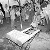 Girl Scouts plant tree to celebrate 75th anniversary on March 12, 1987.