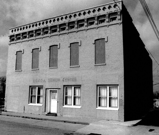 Shown is the old senior center before it was torn down in 1990.