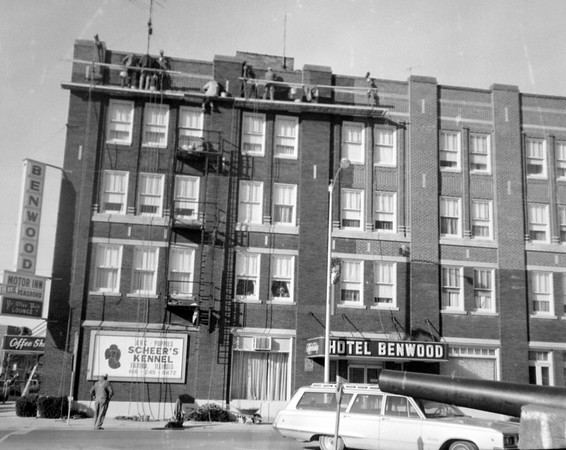 Benwood Hotel exterior work 1973