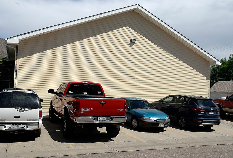 The west wall of Arapahoe Rental, 201 Main St., Windsor, is in tact  Thursday, May 17, 2018, ten years after the tornado. (Photo by Jenny Sparks/Loveland Reporter-Herald)