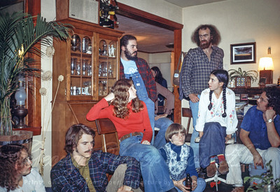 Milk and Honey gathering at David & Kay Pollack's. Liz Ring, John Ring, Anne Kadin, Neil Petty, Mary Sellin, Jo Hibbits, Scott Selfridge, Kay Pollack, David Pollack