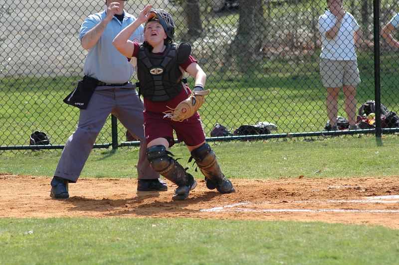 Abby Ostrom tracks a popup vs. Choate - 2010