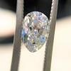 1.03ct Antique Pear Cut Diamond GIA F VS2 3