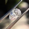 1.03ct Antique Pear Cut Diamond GIA F VS2 13