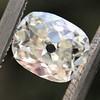 1.03ct Antique Cushion Cut Diamond GIA M SI1 0
