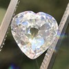 1.06ct Antique Heart Diamond GIA H SI1 0