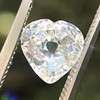 1.06ct Antique Heart Diamond GIA H SI1 7
