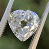 1.06ct Antique Heart Diamond GIA H SI1 4