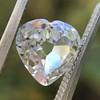 1.06ct Antique Heart Diamond GIA H SI1 11