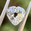 1.06ct Antique Heart Diamond GIA H SI1 5