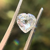 1.06ct Antique Heart Diamond GIA H SI1 8