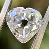 1.06ct Antique Heart Diamond GIA H SI1 6