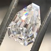 1.33ct Vintage Shield Step Cut Diamond GIA E VS1 0