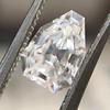 1.33ct Vintage Shield Step Cut Diamond GIA E VS1 9