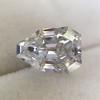 1.33ct Vintage Shield Step Cut Diamond GIA E VS1 3