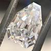 1.33ct Vintage Shield Step Cut Diamond GIA E VS1 6