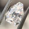 1.33ct Vintage Shield Step Cut Diamond GIA E VS1 4