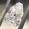 1.33ct Vintage Shield Step Cut Diamond GIA E VS1 2