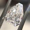 1.33ct Vintage Shield Step Cut Diamond GIA E VS1 12