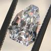 1.33ct Vintage Shield Step Cut Diamond GIA E VS1 13