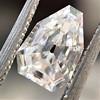 1.33ct Vintage Shield Step Cut Diamond GIA E VS1 10