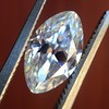 1.36ct Antique Moval Cut Diamond GIA H VVS2 16