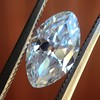 1.36ct Antique Moval Cut Diamond GIA H VVS2 13
