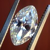 1.36ct Antique Moval Cut Diamond GIA H VVS2 15