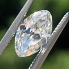 1.36ct Antique Moval Cut Diamond GIA H VVS2 2