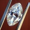 1.36ct Antique Moval Cut Diamond GIA H VVS2 17