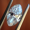 1.36ct Antique Moval Cut Diamond GIA H VVS2 14