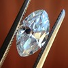 1.36ct Antique Moval Cut Diamond GIA H VVS2 11