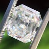 1.60ct Vintage Emerald Cut Diamond GIA G SI2 18