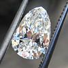 1.61ct Vintage Pear Cut Diamond GIA H SI1 0