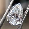 1.61ct Vintage Pear Cut Diamond GIA H SI1 3
