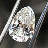 1.61ct Vintage Pear Cut Diamond GIA H SI1 8