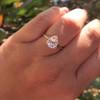 1.65ct Antique Pear Cut Diamond GIA F SI2 9
