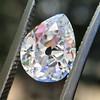 1.65ct Antique Pear Cut Diamond GIA F SI2 0