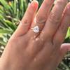 1.65ct Antique Pear Cut Diamond GIA F SI2 22
