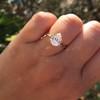 1.65ct Antique Pear Cut Diamond GIA F SI2 20