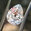 1.65ct Antique Pear Cut Diamond GIA F SI2 1