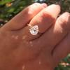 1.65ct Antique Pear Cut Diamond GIA F SI2 5