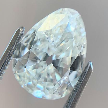 1.67ct Old Cut Pear Diamond