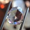 1.77ct Pear Shape Rose Cut Diamond GIA I VS2 1